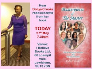 Poster showing details of book reading and signing