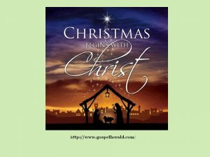 Without Christ, there is no Christmas